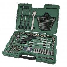 "1/4"" + 3/8"" + 1/2"" Dr. Socket wrench set 124pcs."