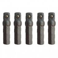 "1/4"" Dr. Drill socket adapter (5pcs)"