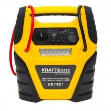 Multifunctional jump starter and charger with mini compressor 12V 900A 17Ah