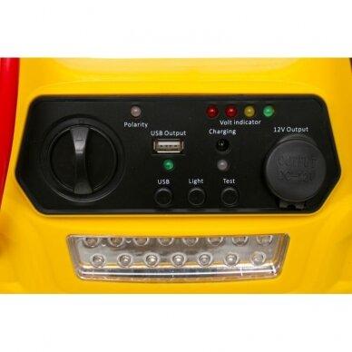 Daugiafunkcinis įkroviklis-paleidėjas su kompresoriumi ir žibintu 12V 900A 17Ah 9