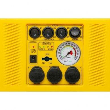 Daugiafunkcinis įkroviklis-paleidėjas su kompresoriumi ir žibintu 12V 900A 17Ah 5