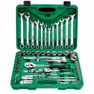 "1/4"" + 1/2"" Dr. Socket and wrench set 61pcs"