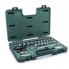 """3/8"""" + 1/4"""" Dr. Socket wrench set 65pcs (SAE & metric)"""