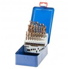 Grąžtų metalui rinkinys DIN338 19vnt. (1-10mm) (cobalt)
