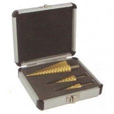 Sheet metal step drill set 3pcs. (4-32mm)