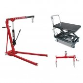 Hydraulic engine cranes / Lift tables