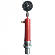 Cylinder for shop press with manometer 12t