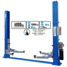 Two post lift with electromagnetic release, 4.0t