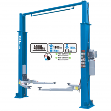 Hydraulic two post lift with mechanical safety locks, 4.0t
