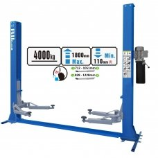 Two post hydraulic lift with strengthen base, 4.0t