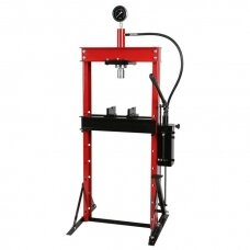 Hydraulic shop press with gauge 20t (foot pump)