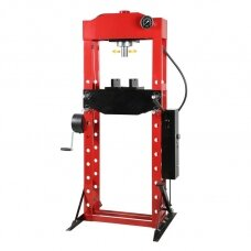 Hydraulic shop press with gauge 30t (foot pump)