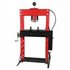 Hydraulic shop press with gauge 40t (foot pump)