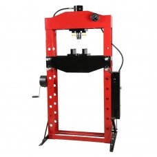 Hydraulic shop press with gauge 50t (foot pump)
