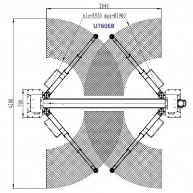 Hidraulinis dviejų kolonų keltuvas su elektromagnetiniu fiksavimu, 6.0t 3