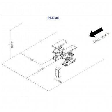 Hidraulinis keltuvas žirklinis 3t 380V 5