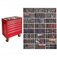 Įrankių spintelė su įrankiais, su ratukais, 583vnt.