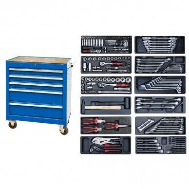 Įrankių spintelė su įrankiais 174vnt (12komp)