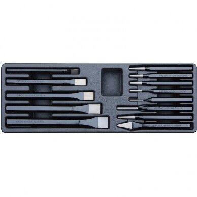 Įrankių spintelė su įrankiais 174vnt (12komp) 12