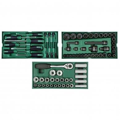 Įrankių spintelė NTBR4007X su SATA įrankiais 300vnt. 5