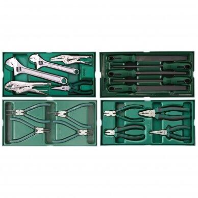 Įrankių spintelė NTBR4007X su SATA įrankiais 300vnt. 6