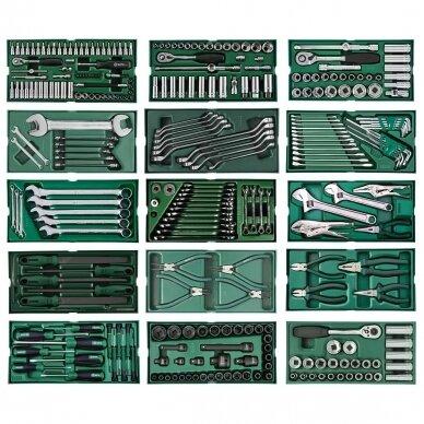 Įrankių spintelė NTBR4007X su SATA įrankiais 300vnt. 7