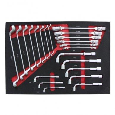 Įrankių spintelė su įrankiais, su ratukais, 181vnt. 3