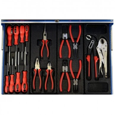 Įrankių spintelė su įrankiais, su ratukais, 269vnt. 4