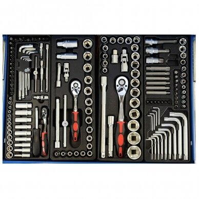 Įrankių spintelė su įrankiais, su ratukais, 269vnt. 2