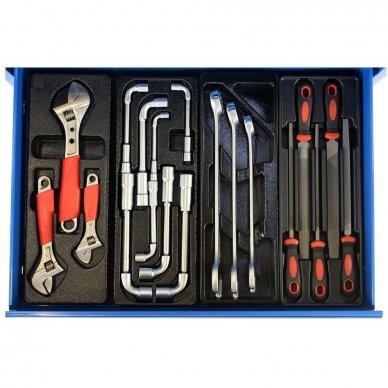 Įrankių spintelė su įrankiais, su ratukais, 269vnt. 6