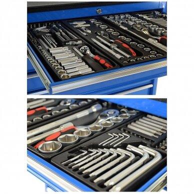 Įrankių spintelė su įrankiais, su ratukais, 269vnt. 8