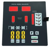 Klaviatūra ratų balans.staklių PL-1150. Atsarginė dalis