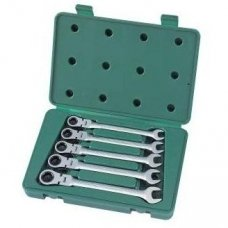 Flex head gear wrench set 5pcs. (10-14)