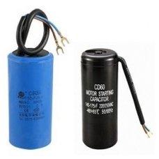 Kondensatorių komplektas (2vnt) kompresoriui V-0.6/8 220V