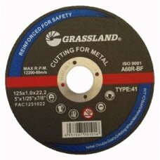 Cut-off wheel 125x1.0x22.2 41. Metal and steel