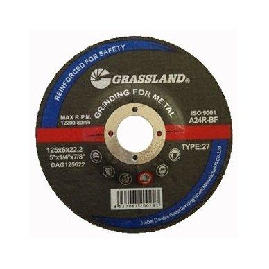 Metalo šlifavimo diskas 125x6.0x22.2 27