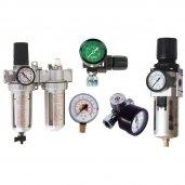 Oro srauto reguliatoriai / filtrai / tepalinės / manometrai