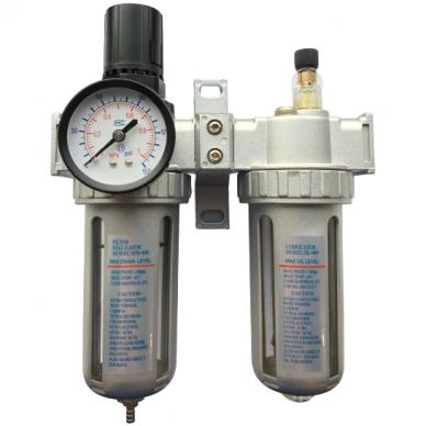 Oro srauto reguliatorius 1/2 su filtru ir tepaline