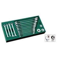 Tray. Ratcheting combination wrench set  19pcs.