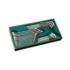 Tray. Combination wrench and hex key set  10pcs.