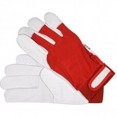 Working gloves leather coated cotton (L size)