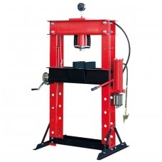 Pneumatic / hydraulic shop press with gauge 40t