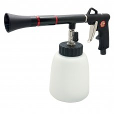 Air twister cleaning gun with plastic cup