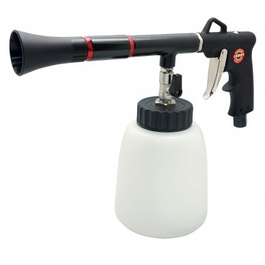 Pneumatinis. plovimo/džiovinimo pistoletas su plastikiniu bakeliu