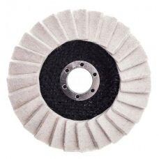 Felt disc for polishing metal 125mm