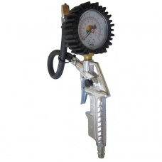 Tire inflating gun with manometer