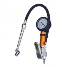 Tire inflating gun with manometer (long nozzle)