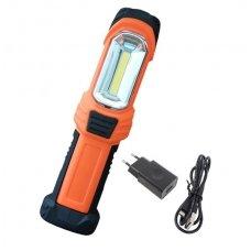 Prožektorius darbui COB (3W) + LED 1W (įkraunamas)