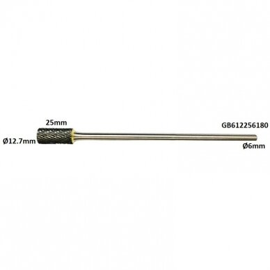 Prailginta freza kietmetalio B cilindro formos Ø12.7 x 25mm