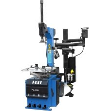 Tyre changer with pneumatic help arm system